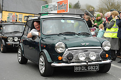 Members of the international Mini Meeting at the Westport parade on sunday.<br /> Pic Conor McKeown