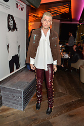 KYLE DE'VOLLE at the Fashion Targets Breast Cancer 20th Anniversary Party held at 100 Wardour Street, Soho, London on 12th April 2016.