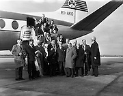 Irish Rugby Football Union, Irish team departs Dublin Airport for Twickenham, Dublin, Ireland, 8th February, 1962,.8.2.1962, 2.8.1962,