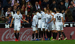November 24, 2018 - Valencia, Valencia, Spain - Valencia CF players celebrates a goal during the La Liga match between Valencia CF and Rayo Vallecano at Mestalla Stadium on November 24, 2018 in Valencia, Spain (Credit Image: © AFP7 via ZUMA Wire)