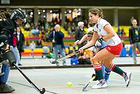 ARNHEM - ? van MOP.  MOP dames tijdens de eerste dag van de zaalhockey competitie in de hoofdklasse, seizoen 2013/2014. COPYRIGHT KOEN SUYK