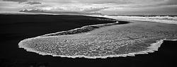 Sea at the sand beach near Kvisker, south east Iceland - Sandfjara skammt frá Kvískerjum