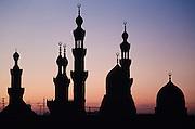 Cairo at sunset.