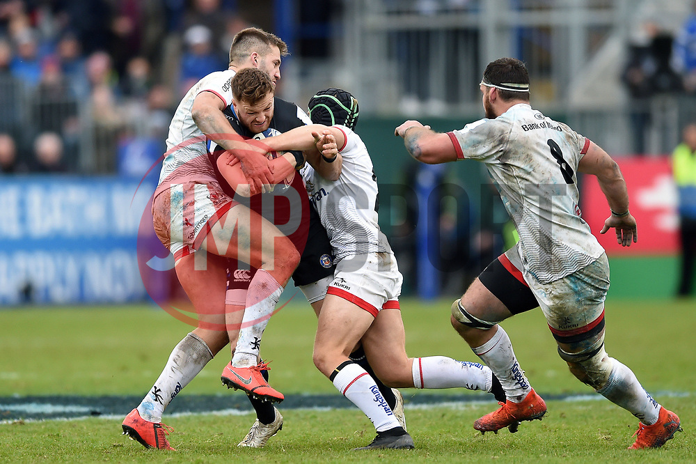 Max Wright of Bath Rugby takes on the Ulster defence - Mandatory byline: Patrick Khachfe/JMP - 07966 386802 - 16/11/2019 - RUGBY UNION - The Recreation Ground - Bath, England - Bath Rugby v Ulster Rugby - Heineken Champions Cup