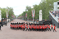 LONDON - JUNE 05: Coldstream Guards, The Queen's Diamond Jubilee, The Mall, London, UK. June 05, 2012. (Photo by Richard Goldschmidt)