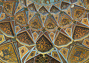 Stunning photographs reveal the beautiful ceilings in Iran's mosques, bazaars and public baths<br /> <br /> For the past few decades, restrictions on travel to Iran has meant the country has been largely shut off from the Western world, but as visa sanctions are lifted in the light of a landmark nuclear deal, the local tourism industry is hoping for a flurry of visitors.<br /> It's not hard to see why Iran is listed as one of the top travel destinations of 2016, with its rich culture and history. <br /> Among the standout aspects of the nation is its beautiful ancient architecture, with the cities and towns littered with ornate and eye-catching mosques, public baths and markets. <br /> And unlike many other countries - the roof is not an afterthought, with many ceilings built as the centrepiece to the building, with many of the tile designs showcasing a display of intricate geometric patterns that date back several centuries. <br /> French photographer Eric Lafforgue has travelled the country photographing the ceilings of indoor markets, mosques and bath houses. <br /> <br /> Photo shows: Ceiling With Its Intricate And Elaborate Patterns In Behesht Palace