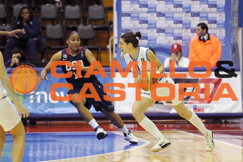 DESCRIZIONE : Chile Cile U19 Women World Championship 2011 Italy USA Italia  <br /> GIOCATORE : Giovanna Pertile<br /> SQUADRA : Italia Italy<br /> EVENTO : Chile Cile U19 Women World Championship 2011 <br /> GARA : Italy USA Italia  <br /> DATA : 26/07/2011<br /> CATEGORIA : palleggio<br /> SPORT : Pallacanestro <br /> AUTORE : Agenzia Ciamillo-Castoria/C.De Massis<br /> Galleria : Fiba U19 World Championship Women Chile 2011<br /> Fotonotizia : Chile Cile U19 Women World Championship 2011 Italy USA Italia  <br /> Predefinita :