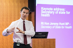 © Licensed to London News Pictures. 16/03/2017. London, UK. Health Secretary Jeremy Hunt speaks at the NHS Confederation annual mental health network conference, at The King's Fund. Photo credit : Tom Nicholson/LNP
