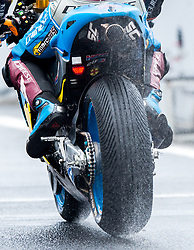 October 21, 2017 - Melbourne, Victoria, Australia - Australian rider Jack Miller (#43) of EG 0,0 Marc VDS leaves pit lane during a wet third free practice session at the 2017 Australian MotoGP at Phillip Island, Australia. (Credit Image: © Theo Karanikos via ZUMA Wire)