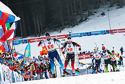 Mario Dolder (SUI), Tarjei Boe (NOR) during the Mixed Relay 2x 6 km / 2x 7,5 km at day 3 of IBU Biathlon World Cup 2019/20 Pokljuka, on January 23, 2020 in Rudno polje, Pokljuka, Pokljuka, Slovenia. Photo by Peter Podobnik / Sportida