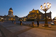 Berlin, Germany. Gendarmenmarkt at dusk.