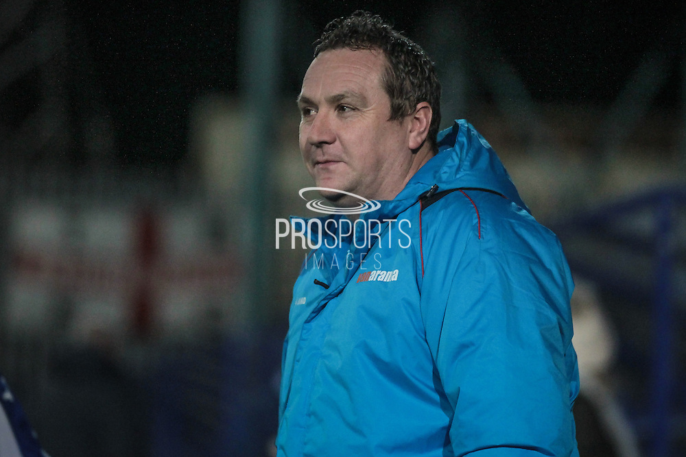 Mickey Mellon (Manager) (Tranmere Rovers) watches on as a throw-in is taken during the Vanarama National League match between Tranmere Rovers and Boreham Wood at Prenton Park, Birkenhead, England on 21 February 2017. Photo by Mark P Doherty.