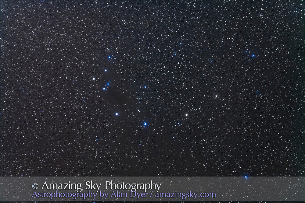 The constellation of Corona Australis and the dark nebula area known as the Field of Nothing, as in a telescope at moderate power, there is nothing in the eyepiece. The small globular cluster NGC 6723 is at left. The field simulates a binocular field of view.<br /> <br /> This is a stack of 5 x 2-minute exposures with the 200mm lens at f/2.8 and Canon 5D MkII at ISO 1600, Tracked on the AP400 mount in Australia.