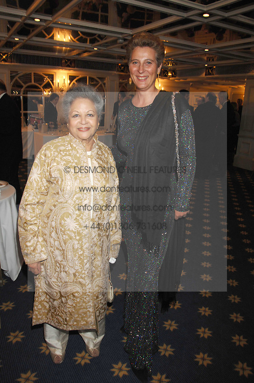 Left to right, BARONESS FLATHER and PRINCESS KATARINA OF YUGOSLAVIA at the Eastern Eye Asian Business Awards 2007 in the presence of HRH The Duke of York at the Hilton Park Lane, London on 8th May 2007.<br /><br />NON EXCLUSIVE - WORLD RIGHTS
