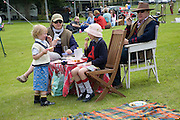 LT. COL. GRAHAM COOMBES; ELIZABETH COOMBES AND CHILDREN; THEODORE COOMBES; ANNABEL COOMBES. Hackett Rundle Cup 2008. Tidworth. 12 july 2008 *** Local Caption *** -DO NOT ARCHIVE-© Copyright Photograph by Dafydd Jones. 248 Clapham Rd. London SW9 0PZ. Tel 0207 820 0771. www.dafjones.com.