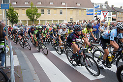 Peloton sweep around the corner at Boels Rental Ladies Tour Stage 4 a 121.4 km road race from Gennep to Weert, Netherlands on September 1, 2017. (Photo by Sean Robinson/Velofocus)