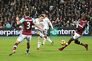 Ander Herrera Midfielder of Manchester United shoots at goal 0-2 during the Premier League match between West Ham United and Manchester United at the Stadium Queen Elizabeth Olympic Park, London, United Kingdom on 2 January 2017. Photo by Phil Duncan.