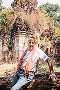 Bill Bensley at brick temple on Kulen Mountain