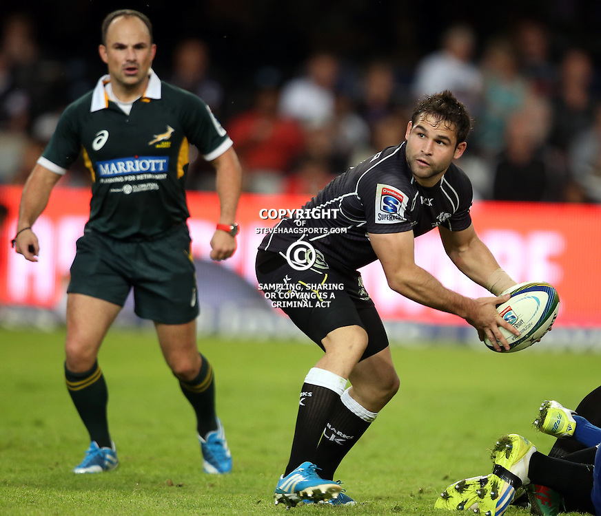 DURBAN, SOUTH AFRICA - MAY 31: Cobus Reinach of the Cell C Sharks during the Super Rugby match between Cell C Sharks and  DHL Stormers at Growthpoint Kings Park on May 31, 2014 in Durban, South Africa. (Photo by Steve Haag/Gallo Images)