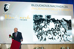 Vladimir Cermak at 55th Annual Awards of Stanko Bloudek for sports achievements in Slovenia in year 2018 on February 4, 2020 in Brdo Congress Center, Kranj , Slovenia. Photo by Grega Valancic / Sportida