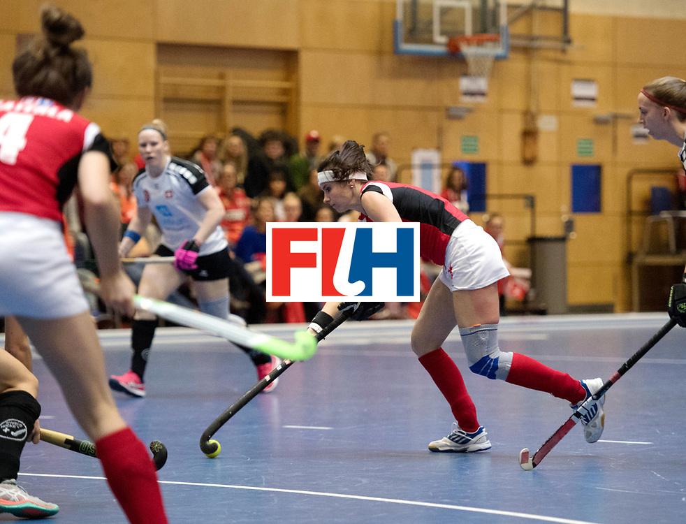 BERLIN - Indoor Hockey World Cup<br /> Switzerland - Poland<br /> foto: RYBACHA Marlena (C)<br /> WORLDSPORTPICS COPYRIGHT FRANK UIJLENBROEK