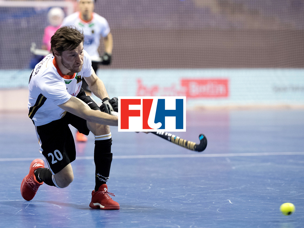 BERLIN - Indoor Hockey World Cup<br /> Men: Germany - Kazachstan<br /> foto: Martin Zwicker.<br /> WORLDSPORTPICS COPYRIGHT FRANK UIJLENBROEK