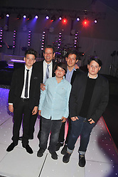 KENNY SCHACHTER and his sons, Left to right, KAI SCHACHTER, SAGE SCHACHTER, ADRIAN SCHACHTER and GABRIELLE SCHACHTER at Gabrielle's Gala an annual fundraising evening in aid of Gabrielle's Angel Foundation for Cancer Research held at Battersea Power Station, London on 2nd May 2013.