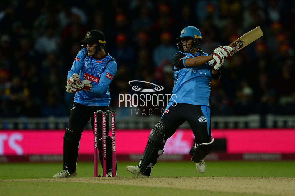 Brett D'Oliveira of Worcestershire Rapids batting during the final of the Vitality T20 Finals Day 2018 match between Worcestershire Rapids and Sussex Sharks at Edgbaston, Birmingham, United Kingdom on 15 September 2018.