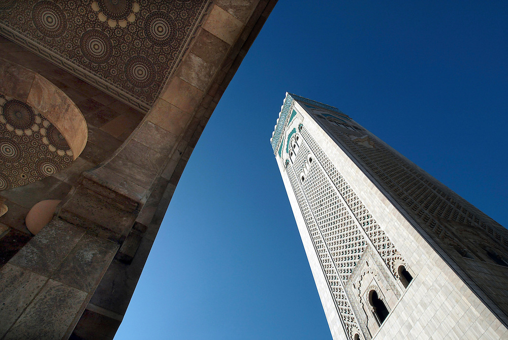 Morocco May 18, 2005 -  - Casablanca's Mosque Hassan II is world's second largest Islamic mosque