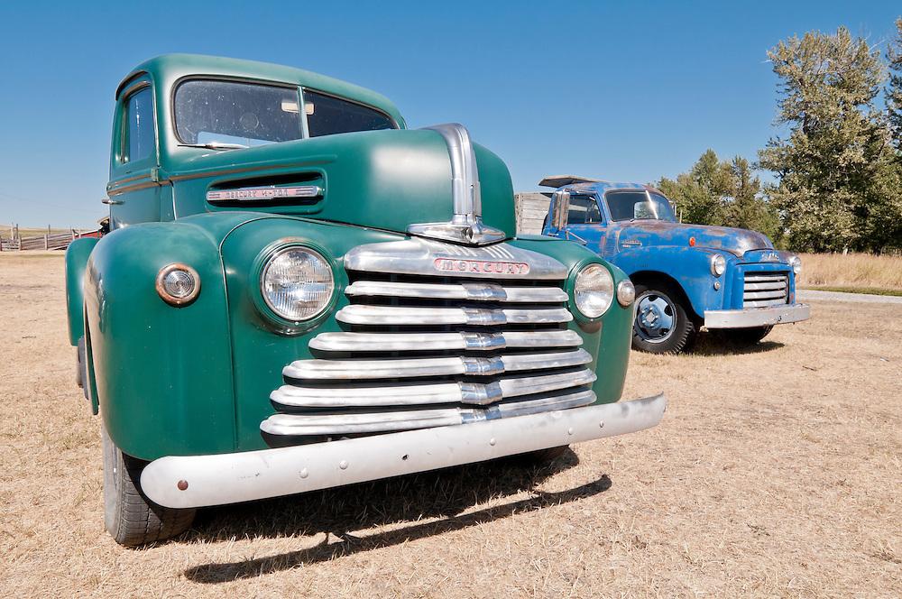1947 Mercury 1/2 ton truck, Bar U Ranch, National Historic Site, Alberta, Canada