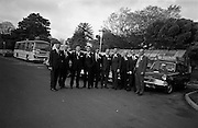 3/11/1967<br /> 11/3/1967<br /> 3 November 1967<br /> <br /> Mr. G.P. Harvey with the nine members of the Promotional team and their cars with which they will tour all of Great Britain (L-R) Dominic Mulvey;Denisw J. Foley of Cork; Kenneth W. Lendrum; John G. Whittaker of Cork; Maurice O'Reagan Reidy; Ronald Michael Delaney; Alick D Armstrong; William Murtagh and Kevin O'Doherty