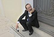 Partinico: the anti-mafia journalist Pino Maniaci, who runs the tv station in Sicily TeleJato.<br /> Partinico: il giornalista antimafia Pino Maniaci, direttore della emittente televisiva Telejato.