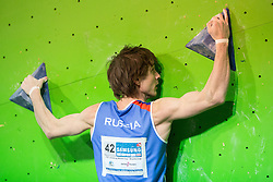 Dmitrii Sharafutdinov of Russia during Final IFSC World Cup Bouldering Competition in sport climbing Log Dragomer 2013, on May 12, 2013 in Sportni Park, Log pri Brezovici, Slovenia. (Photo By Matic Klansek Velej/ Sportida.com)