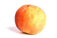 Studio shot of peach on white background