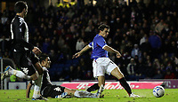 Photo: Paul Thomas.<br /> Glasgow Rangers v Partizan Belgrade. UEFA Cup. 14/12/2006.<br /> <br /> Ranger Nacho Novo (R) has this great shot saved during the first half.