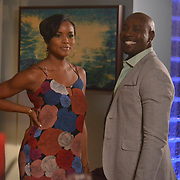 "ROSEWOOD: Pictured L-R: Guest star LeToya Luckett and Morris Chestnut in the ""Prosopagnosia & Parrotfish"" episode of ROSEWOOD airing Thursday, Nov. 17 (8:00-8:59 PM ET/PT) on FOX. ©2016 Fox Broadcasting Co. CR: Lisa Rose/FOX"