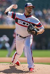 May 6, 2018 - Chicago, IL, U.S. - CHICAGO, IL - MAY 06: Chicago White Sox starting pitcher James Shields (33) pitches during a game between the Minnesota Twins the Chicago White Sox on May 6, 2018, at Guaranteed Rate Field, in Chicago, IL. (Photo by Patrick Gorski/Icon Sportswire) (Credit Image: © Patrick Gorski/Icon SMI via ZUMA Press)
