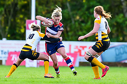 Claire Molloy of Bristol Ladies evades the tackle of Tina Veale of Wasps Ladies - Mandatory by-line: Craig Thomas/JMP - 28/10/2017 - RUGBY - Cleve RFC - Bristol, England - Bristol Ladies v Wasps Ladies - Tyrrells Premier 15s