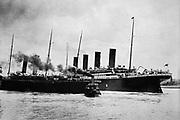 Titanic setting sail for America in 1912