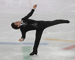 February 17, 2018 - Pyeongchang, KOREA - Keegan Messing of Canada competing in the men's figure skating free skate program during the Pyeongchang 2018 Olympic Winter Games at Gangneung Ice Arena. (Credit Image: © David McIntyre via ZUMA Wire)
