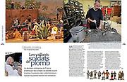 Illustration d'un article sur les soldats de Plomb dans le Figaro Histoire