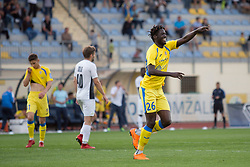 Shamar Amaro Nicholson of NK Domzale celebrates goal during football match between NK Domzale and NK Ankaran Hrvatini in Round #30 of Prva liga Telekom Slovenije 2017/18, on May 2nd, 2018 in Sports Park Domzale, Domzale, Slovenia. Photo by Urban Urbanc / Sportida