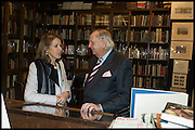 VERONICA WADLEY; SIMON WARD, Book party for 'The Liar's Ball' by Vicky Ward hosted by  Sir Evelyn  de Rothschild at Henry Sotheran's, 2 Sackville Street London. 25 November 2014