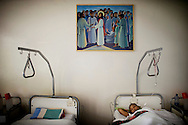 A woman is recovering from her fistula operation in the Hamlin Fistula Hospital, Addis Abeba, Ethiopia. The hospital was founded in 1974 and has helped over 40 000 women so far.