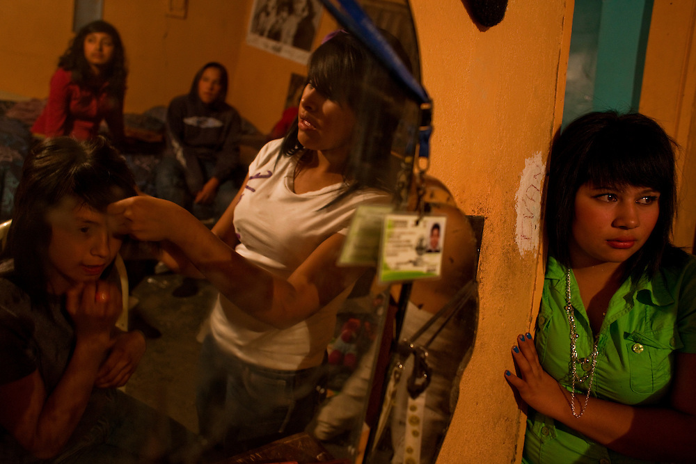 Teenagers get ready to go out to a night club in a friend's house in Diaz Ordaz colonia in Ciudad Juarez, Chihuahua Mexico on May 1, 2010. ..