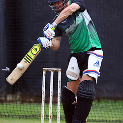 Durban South Africa December 8- : Kevin Pietersen of the Sunfoil Dolphins during the Sunfoil Dolphins RAM Slam T20 Challenge media opportunity at Sahara Stadium Kingsmead (Photo by Steve Haag) images for social media must have consent from Steve Haag and a copyright.