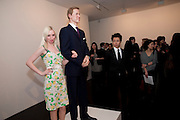 MARIA PILKINGTON; PRINCE WILLIAM WAXWORK, 'Engagement' exhibition of work by Jennifer Rubell. Stephen Friedman Gallery. London. 7 February 2011. -DO NOT ARCHIVE-© Copyright Photograph by Dafydd Jones. 248 Clapham Rd. London SW9 0PZ. Tel 0207 820 0771. www.dafjones.com.