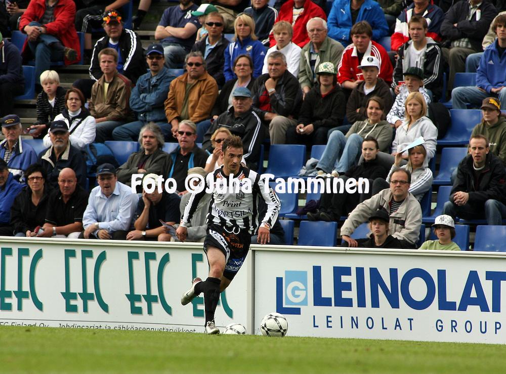 30.06.2008, Hietalahti, Vaasa, Finland..Veikkausliiga 2008 - Finnish League 2008.Vaasan Palloseura - Myllykosken Pallo-47.Ansi Agolli - VPS.©Juha Tamminen.....ARK:k
