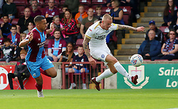 Joe Ward of Peterborough United in action with Jordan Clarke of Scunthorpe United - Mandatory by-line: Joe Dent/JMP - 13/10/2018 - FOOTBALL - Glanford Park - Scunthorpe, England - Scunthorpe United v Peterborough United - Sky Bet League One