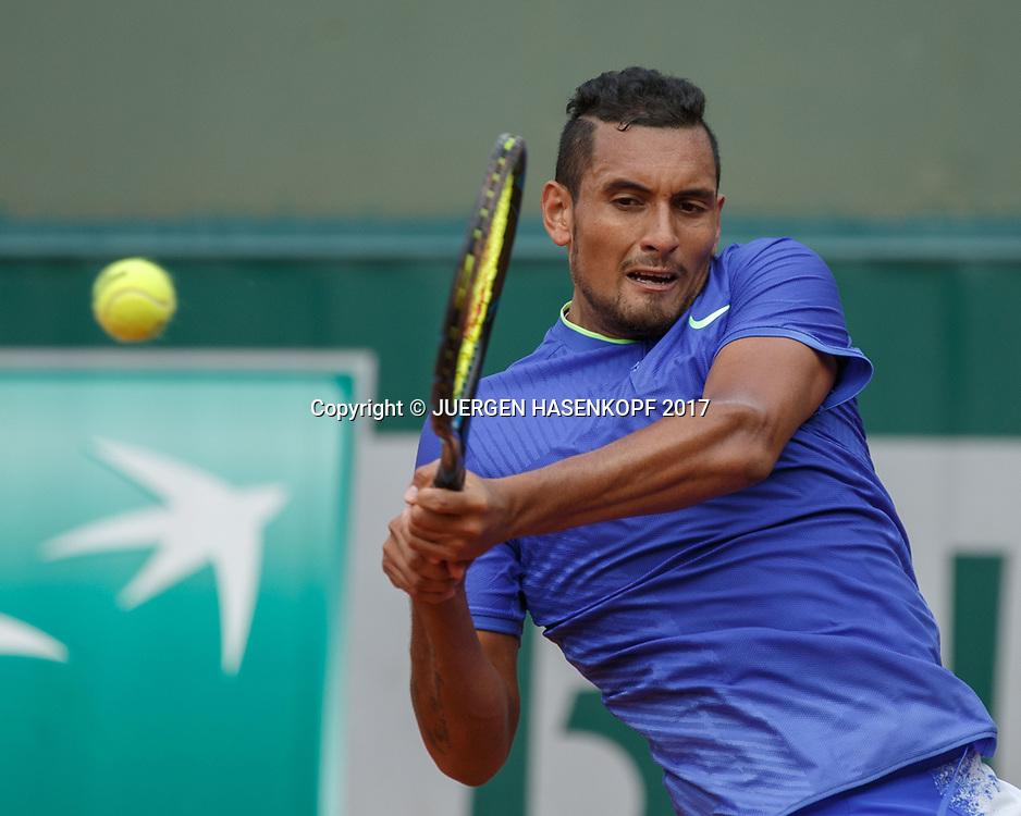 NICK KYRGIOS (AUS)<br /> <br /> Tennis - French Open 2017 - Grand Slam ATP / WTA -  Roland Garros - Paris -  - France  - 30 May 2017.
